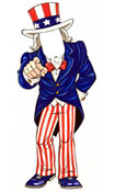 uncle sam lifesized cutout